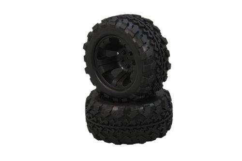 Jamara 505094 - Pneumatici con cerchioni, 1:10, Tiger , anteriori/posteriori, colore: Nero