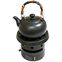 TEA SOUL Alma de Lino de cerámica Studio hervidor y Estufa de Gas Ajustable de té