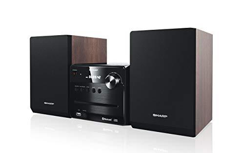 SHARP XL-B510 (BR) Micro Sound System, UKW Radio, 40W, Bluetooth und USB Playback, CD-MP3, Braun