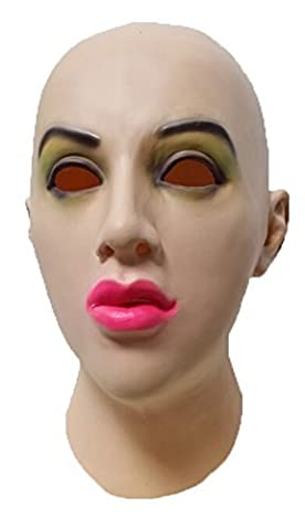 LMJMASK Full Head Realistic Female Mask (Realistic) (Green eyes)