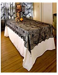 chdecke für Halloween Partys, Halloween Decor Ideen und Unheimliche Mahlzeiten-Spider Net Muster, 121,9x 243,8cm schwarz ()