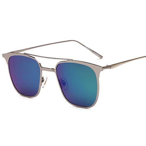 Yiph-Sunglass Sonnenbrillen Mode Persönlichkeit Katzenaugen-Stil Männer Fahren Sonnenbrillen Metall umrandeten polarisierten UV-Schutz Sonnenbrillen. (Farbe : Grün)