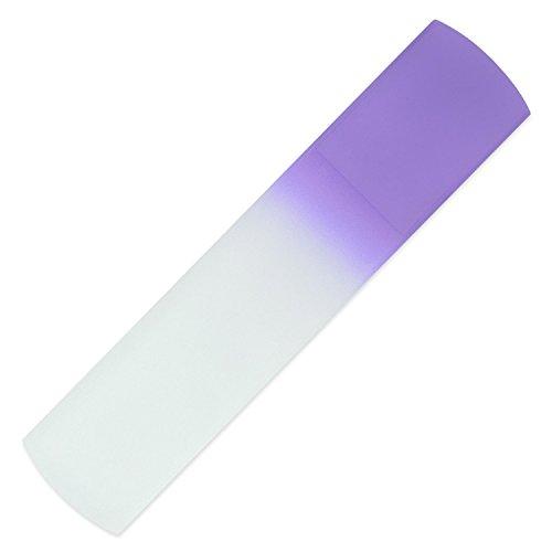 Von Hand gefertigte Glas-Hornhautraspel | Glas-Fußfeile, echtes gehärtetes Glas aus Tschechien, lebenslange Garantie | Entfernt harte Haut, abgestorbene Haut und raue Haut - Bleu-glas