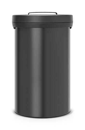 Big Bin 60 L / Matt black (Papierkorb Edelstahl öffnen)