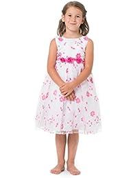 MGT-Shop Mädchen Kinderkleid Mädchenkleider Blumenmädchenkleid Kommunionskleid Taufkleid Blumenmädchenkleider Hochzeit K3282M