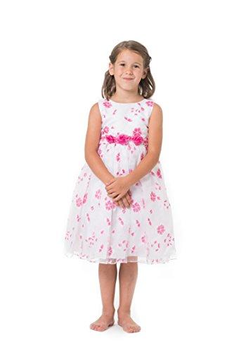 MGT-Shop Mädchen Kinderkleid Mädchenkleider Kommunionskleid Taufkleid Blumenmädchenkleider Hochzeit K3282M (110) (Kommunion Kleid Shop)