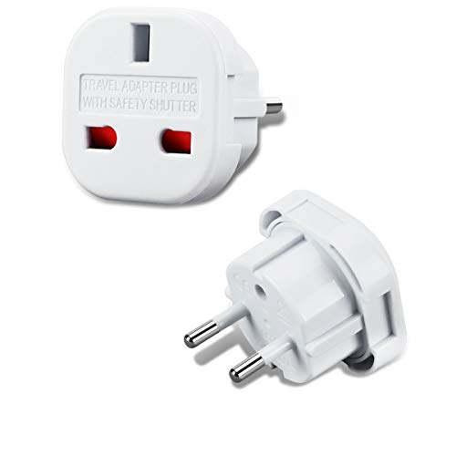 Incutex 1x UK zu EU Adapter Reiseadapter UK auf DE Reisestecker UK auf DE Netzadapter UK 3-Pin auf E