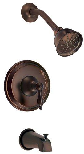 Danze d511040rbt Fairmont singola maniglia Kit Trim per doccia e vasca da bagno, con efficiente flusso doccia Olio strofinato bronzo