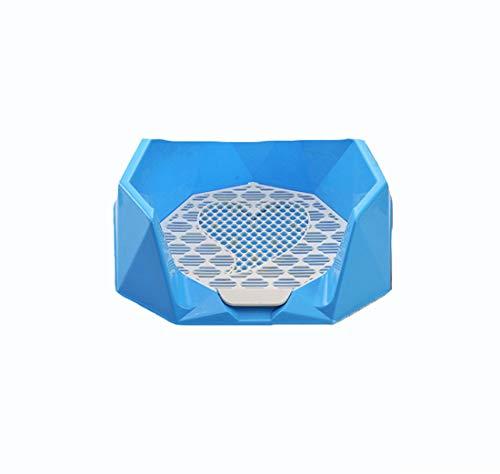 Gmjay Tragbare Pet Toilettenbehälter Training Pad Diamant Töpfchen Zaun Hunde Indoor Outdoor Einsatz Welpen Platz Raster Splash Hund Toilette,Blue -