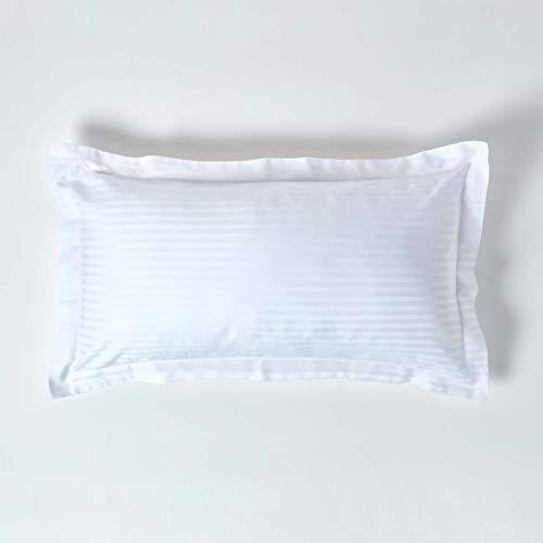 Homescapes Funda de almohada Confort con rayas de satén estilo-Oxford-50 x 90 cm de color...