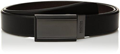 Reversible Plaque Belt (Kenneth Cole Reaction Men's Plaque Reversible Belt, black/brown, 42)
