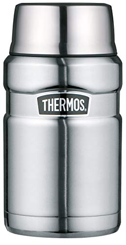 THERMOS Stainless King Speisegefäß, Edelstahl mattiert, 0,71 Liter (Bike Rack Stock)