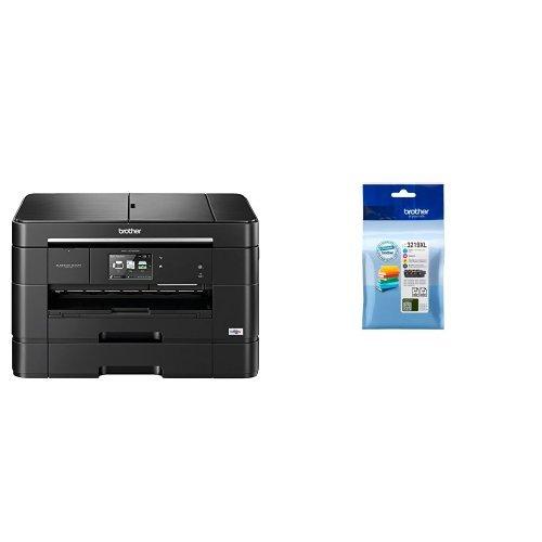 Brother mfc j 6930 dw stampante multifunzione inkjet, nero + lc-3219xlval cartuccia d'inchiostro, multicolore