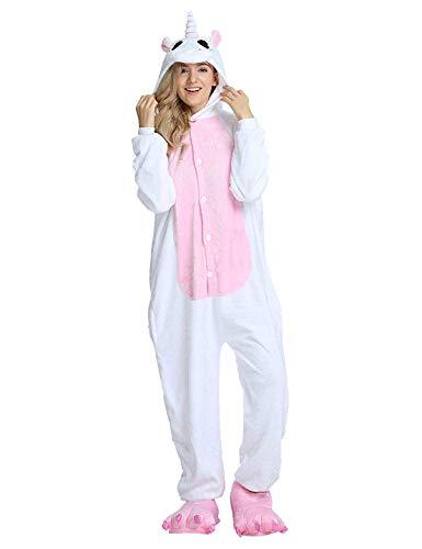 Luojida. Pyjama Tierkostüm Cosplay Karneval Halloween Kostüme Unisex Pyjama Intero Unicornio Panda Pinguin, Pink M