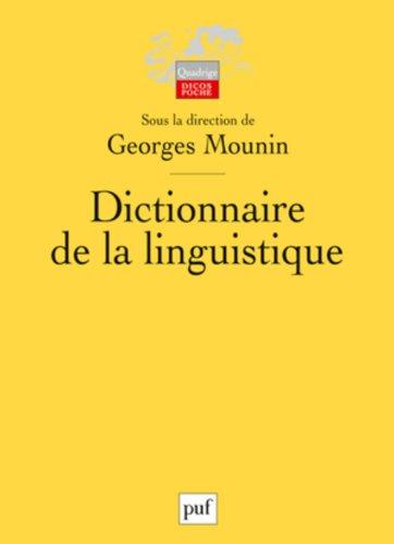Dictionnaire de la linguistique