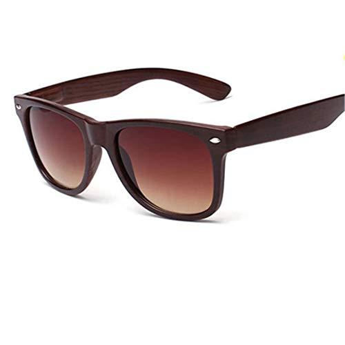 DAIYSNAFDN Vintage Sonnenbrillen Männer Frauen Sport Sonnenbrillen Holzmaserung Sonnenbrillen Goggles Blue