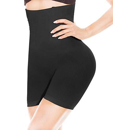 HONFAY Intimo Modellante da Donna Guaina Mutande Contenitiva Pantalone a Vita Alta Dimagrante Contenitiva Fascia Elastica Shapewear, Corpo Shaper, Seamless Corsetto Modellante (Negro-M)