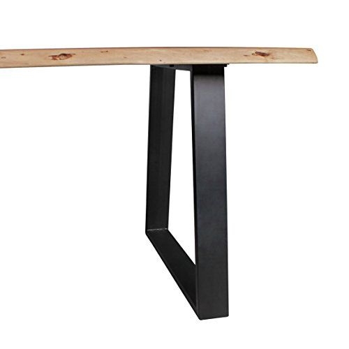 wohnling esszimmer tisch baumstamm massivholz akazie 140 x 76 x 80 cm robuster naturholz. Black Bedroom Furniture Sets. Home Design Ideas