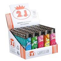 2J Lot DE 50 briquets Smile Rechargeables