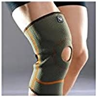 LiveUP Sports - Ginocchiera Sportiva L/XL Neoprene Knee Support Compression Brace Sleeve with Adjustble Wraps Great for Knee Injuries Arthritic