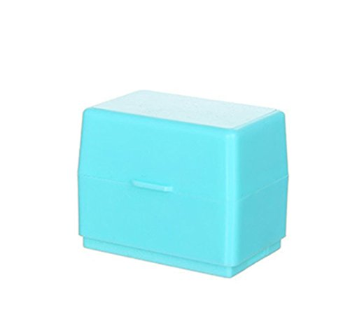 Proteggi il tuo id mini roller stamp, youger roller identity theft prevention security stamps for office (blu)