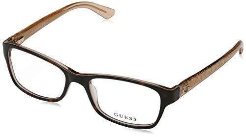 Guess Unisex-Erwachsene GU2591 056 53 Brillengestelle, Braun (Avana)