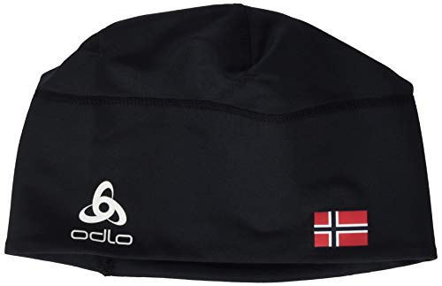 Odlo Hat Polyknit Fan Unisex Warm Mütze, Schwarz (Black-Norwegian Flag), Einheitsgröße