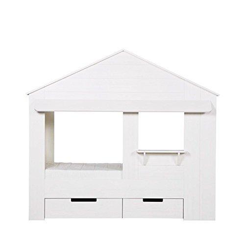 Preisvergleich Produktbild Wood Hausbett Huisie mit Bettkasten
