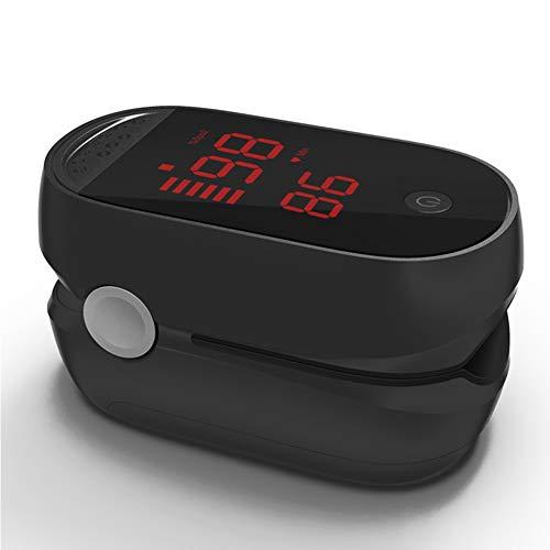 ZDHF Professionelles Fingeroximeter Puls SP02 Blutsauerstoffsättigungsmonitor Erfassungsindex für den Heimgebrauch Pulsfrequenz Atemfrequenz mit Display,Black