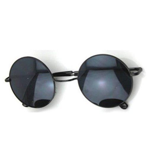 Neue sexy Retro Rahmen rund Linsen-Schildkröte Sonnenbrille (schwarz)