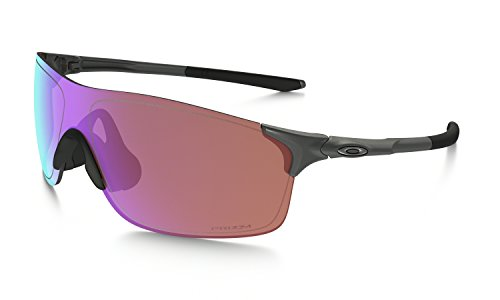 Oakley Men's Evzero Pitch (a) Non-Polarized Iridium Rectangular Sunglasses, Steel, 38 mm