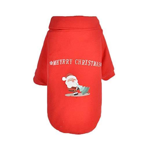 Lucky-all star Pet Dog Vestiti di Natale Rosso Santa Claus Modello Costume Cat Dog Christmas Collo Alto Maglione