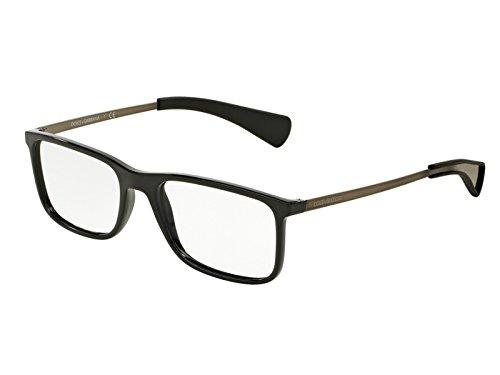Dolce & Gabbana Brillen Für Mann 5017 501, Black Gestell aus Metall und Kunststoff, 54mm