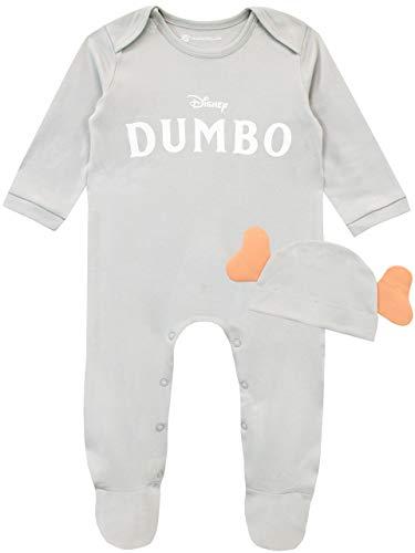 Disney Pijama Entera con Gorro para Niños Bebés Dumbo Gris 9-12 Meses
