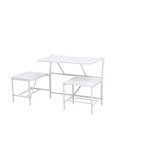 Siena Garden 2er Bank Magic Bench, 54x98x77cm, Stahl, pulverbeschichtet in matt weiß - 3