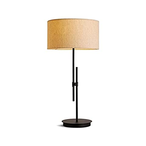 Modern linen Lampshade wrought-iron table lamp scalable Living room bedroom Bedside Lamp studying Desk lamp