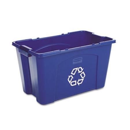 Rubbermaid Stapeln, Papierkorb, rechteckig, Polyethylen, 18GAL, blau-ONE Recycling Mülleimer,.