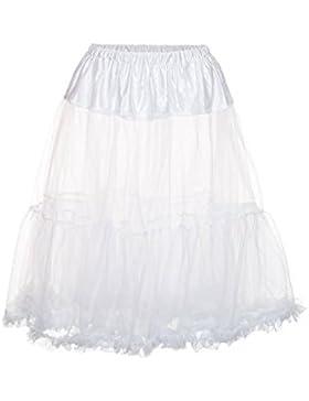 MarJo Damen Petticoat midi 65er weiß Moni