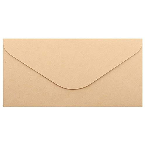 Nrpfell 50 Stücke Kraftpapier Umschl?ge für Hochzeit Mitteilungen 110x220mm