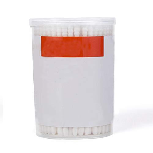 Mein Ji Packung mit 180 Einweg-Reinigungstücher mit doppelter Sicherheits-Spitze, weiches Reinigungswerkzeug für Ohren mit schlanker Achse für die Nase des Babys sauber