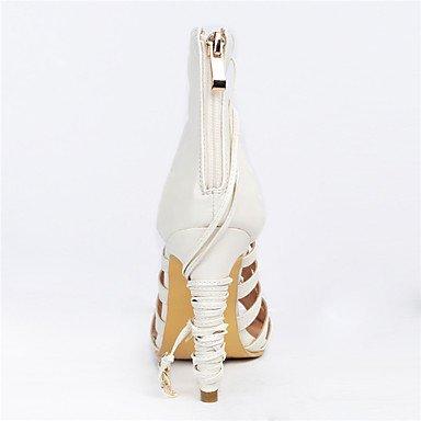 LFNLYX Sandales femmes Printemps Été Automne Autres PU Partie & robe de soirée dentelle talon aiguille occasionnels-up beige blanc Beige