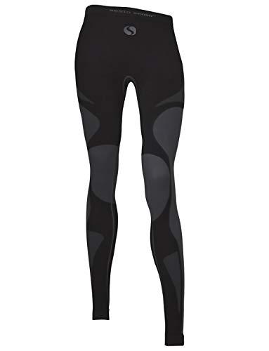 Sesto Senso Damen Funktionsunterwäsche lange Unterhose Thermoaktiv (X-Large, Grigio)