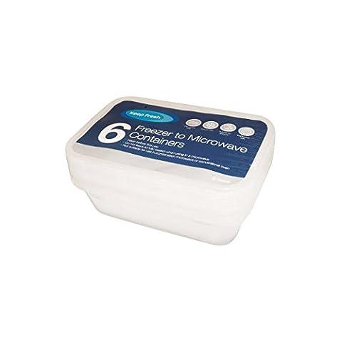 6x 500ml congélateur au micro-ondes conteneurs de nourriture Lunch de stockage pour plats non fuite 3 Pack of 6 Food Containers (Special Offer)