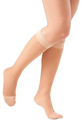 755bda1db4 Ames Walker Women's AW Style 16 Sheer Support Closed Toe Compression Knee  High Stockings - 15