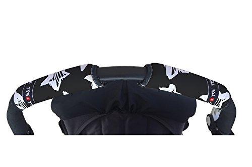 Tris&Ton Fundas empuñaduras horizontal doble Modelo Estrellas, empuñadura funda para silla de paseo...