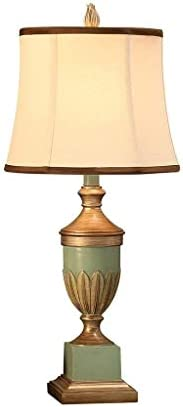 NDHUR Table Lamp Household Bedside Table Lamp, Retro Romantic Resin Carved Table Lamp Bedroom Bedside Living R