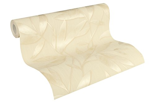 A.S. Création Vliestapete Siena Tapete floral 10,05 m x 0,53 m beige creme metallic Made in Germany 328806 32880-6 -