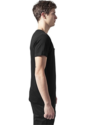 Quilted Pocket Tee shirts Urban Classics Streetwear Uomo blk/blk