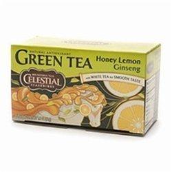 Green Tea Honey Lemon Ginseng with White Tea - 20 Tea Bags - Case of 6