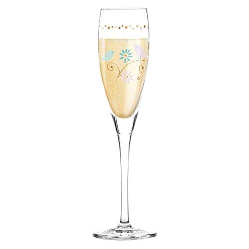 Ritzenhoff 3250016 Pearls Edition Sektglas, 6,4 x 6,4 x 22 cm, mehrfarbig